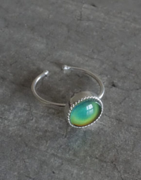 silver mood ring