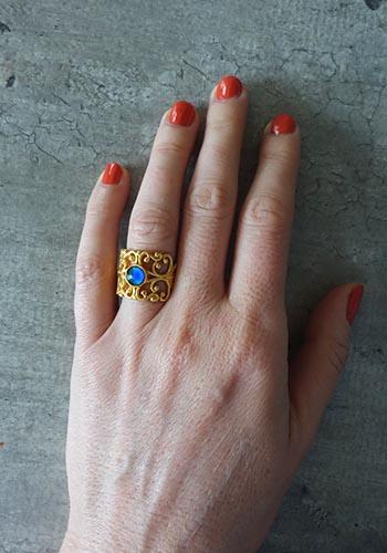 gold handmade mood ring