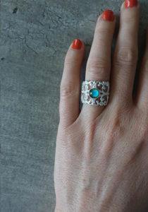 silver handmade mood ring