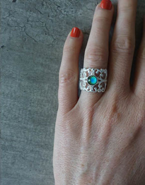 silver handmade mood ring