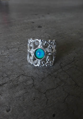 silver statement mood ring