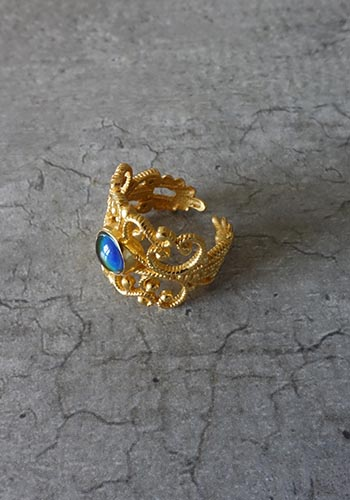 gold handmade mood ring