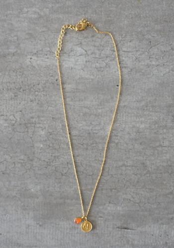 zodiac leo necklace with raw carnelian crystal