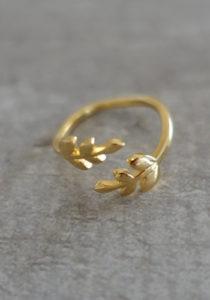 Gold handmade ring