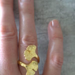Gold ginkgo ring
