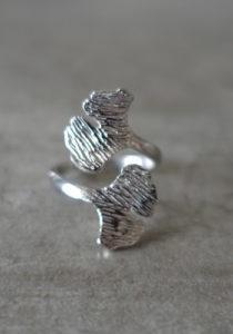 Silver Ginkgo ring
