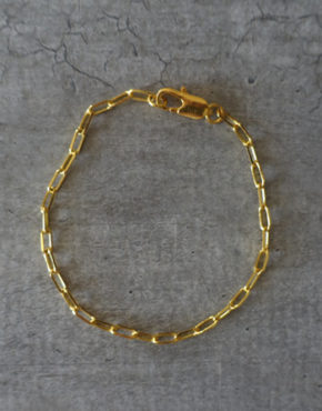 gold large links chain bracelet