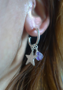 rough amethyst earrings